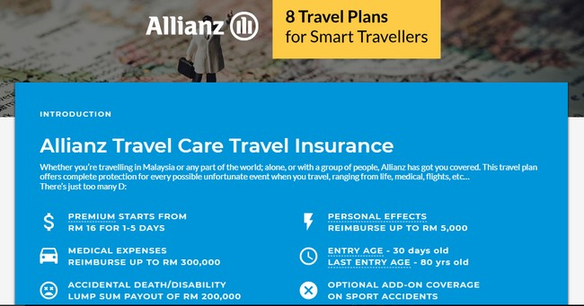 Perlindungan Travel Insurans Allianz