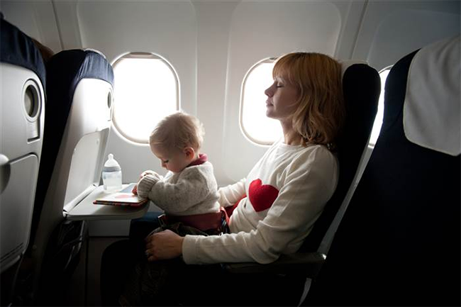 Travelling with baby Lap