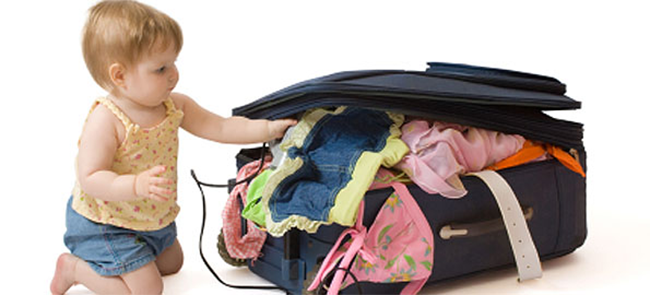 Travelling with baby Pack Lightly